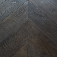 European Oak Chevron Bespoke Black