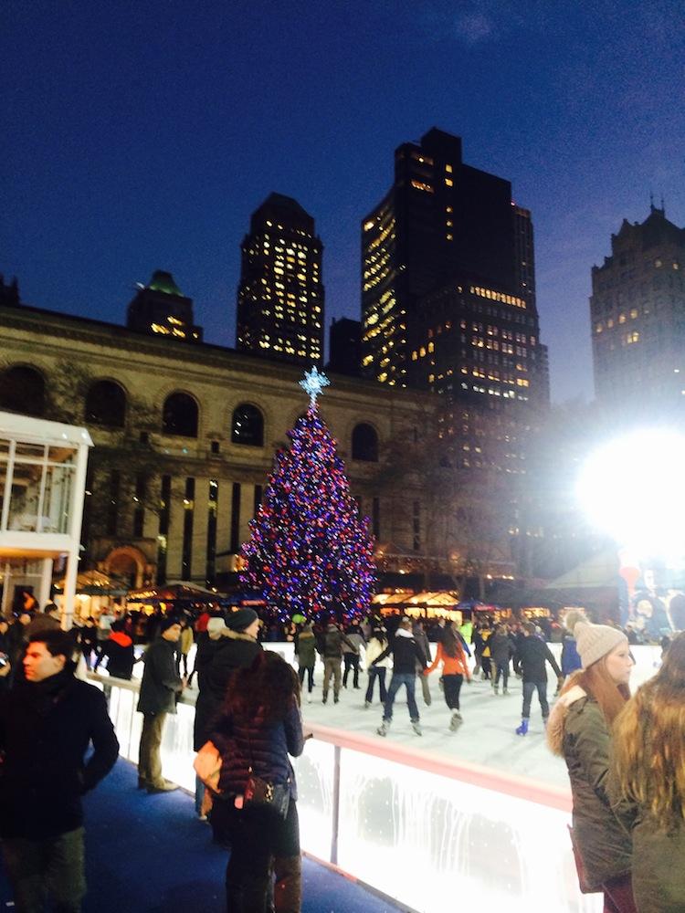 bryant park christmas skating