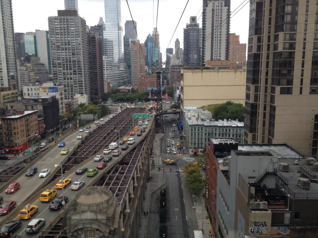 Roosevelt Island Tramway Bridge View