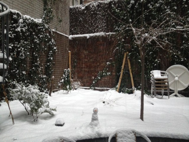 snow courtyard