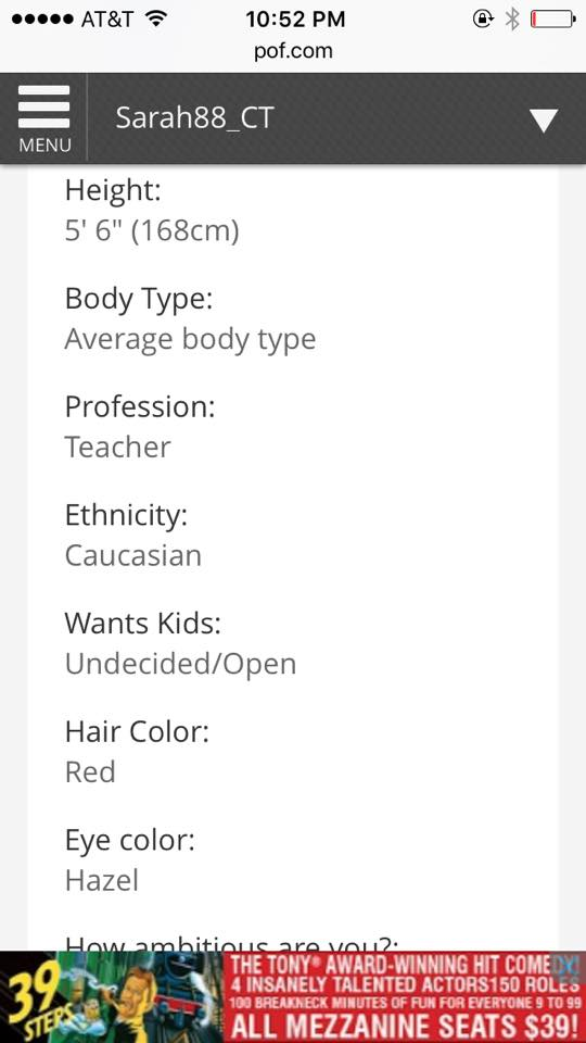 body types online dating