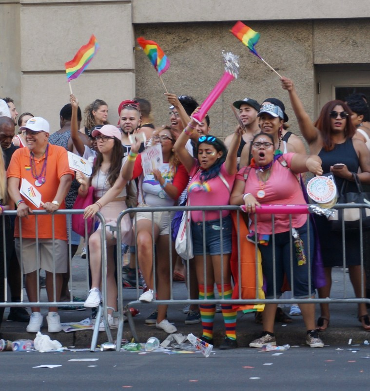 NYC Pride 2016 crowds