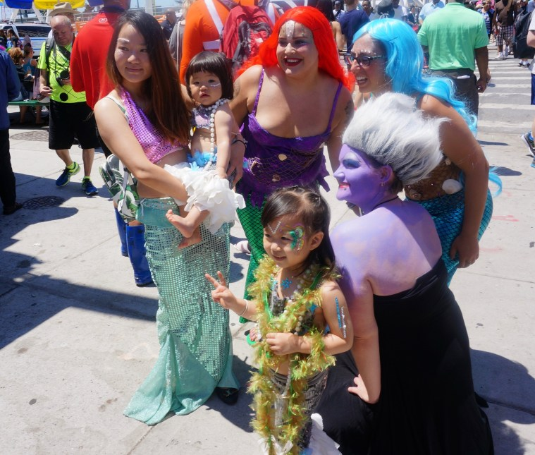 coney island mermaid parade little mermaid