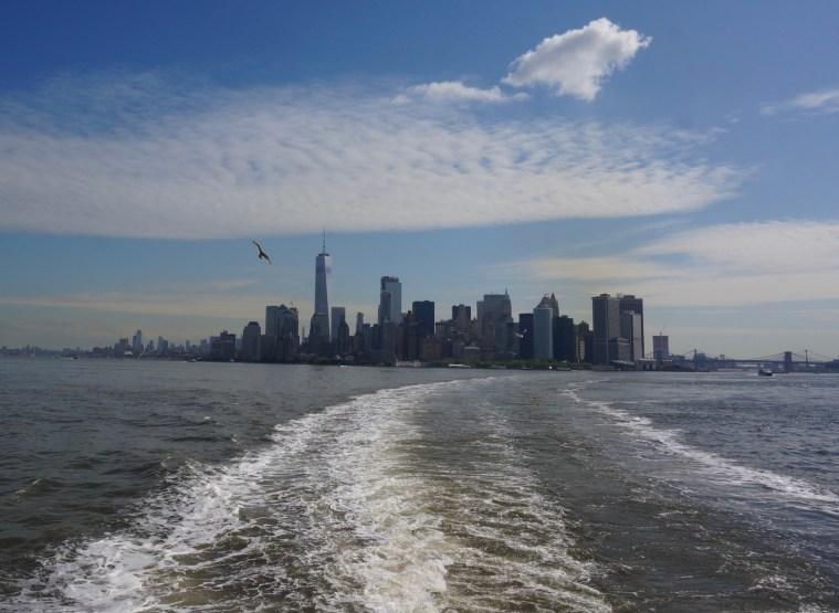 Staten Island Ferry skyline view