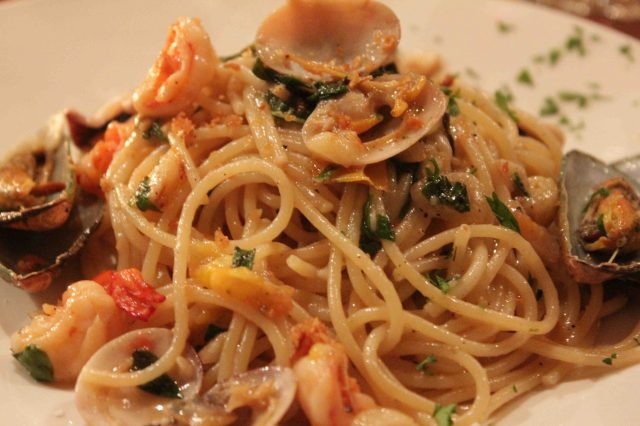 New Yorker Meets London Seafood Pasta