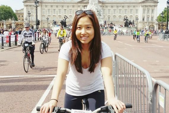New Yorker Meets London Prudential Bike Ride