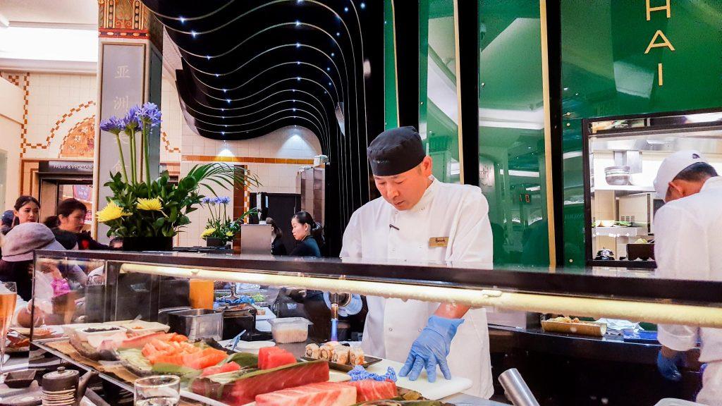 Pan Chai Sushi Chef in Harrods