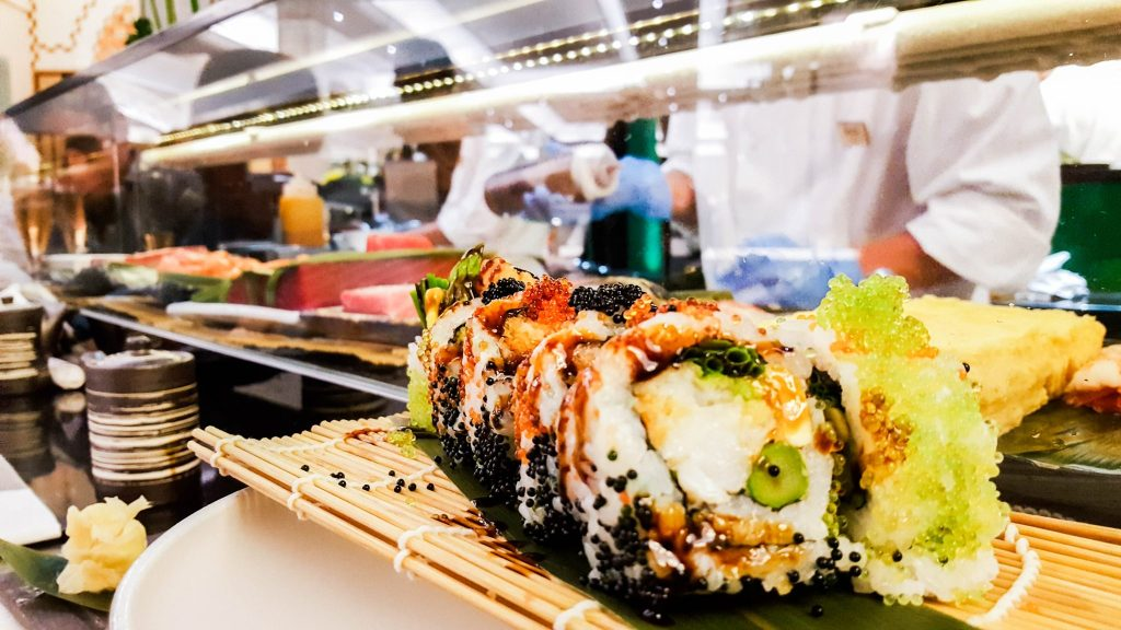 Sushi in London at Pan Chai Harrods