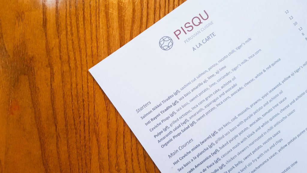Peruvian Restaurant London Pisqu