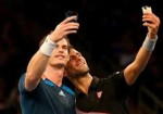 Murray and Djoko selfies 150x105 BNP Paribas Showdown: Racketeering Permitted