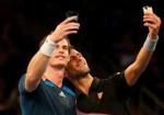 Murray and Djoko selfies 150x105 BNP Paribas Showdown: Racketeering Permitted