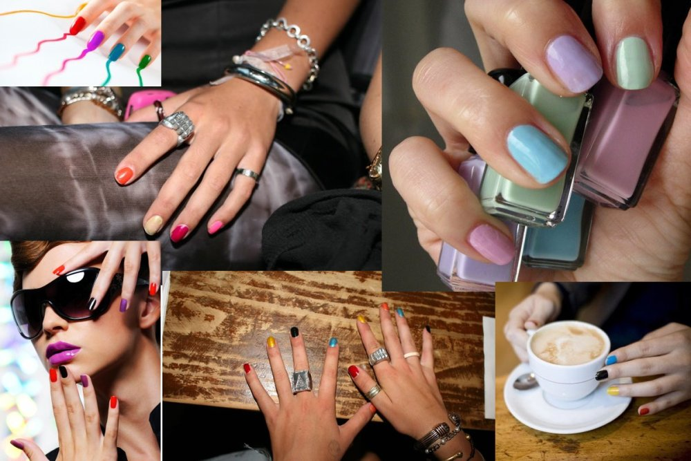 The Skittle Manicure: Making the Most of Our Nail Polish Collections (1/6)