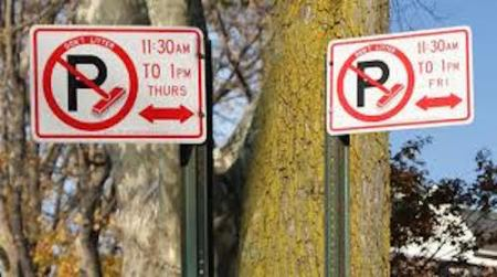Conflicting NYC parking signs
