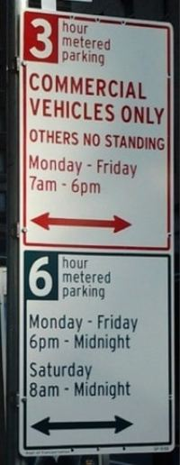 Redesigned NYC parking signs