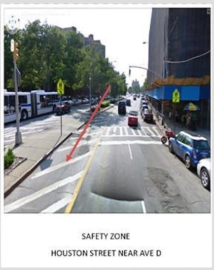 This image is a NYC safety zone
