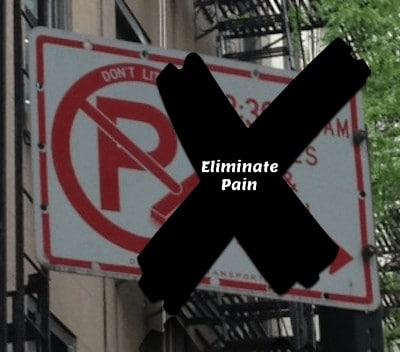 Eliminate the pain of alternate side street parking rules