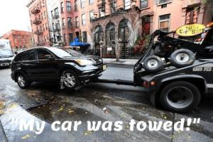 my car was towed in NYC