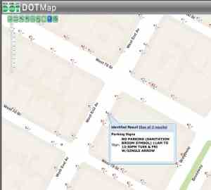 parking rules displayed on the DOT parking regulations map