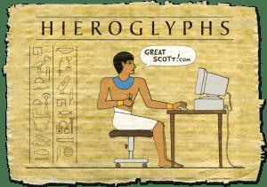 parking sign hieroglyphs