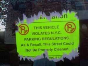 NYC Sticky Sanitation Stickers Finally Come Unglued