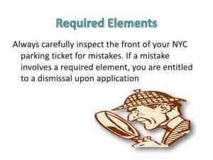 Always check for defective required elements on parking tickets