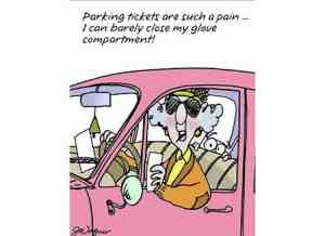 A parking ticket causes pain