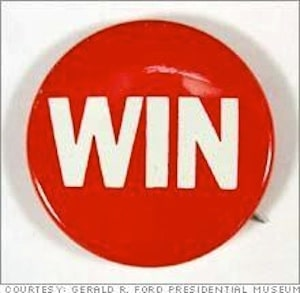 This win button represents outcome of fire hydrant parking ticket hearing