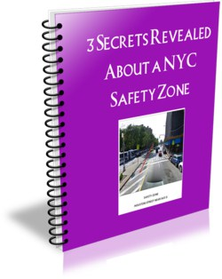 "This ecover is for an ebook entitle, ""3 Secrets Revealed about a NYC Safety Zone"""