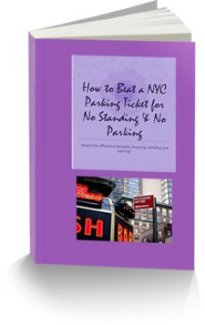 "This is the ecover for an E-book, ""How to Beat a NYC parking ticket for No Standing and No Parking"