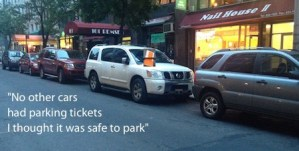 But All the other Cars didn't have Parking Tickets