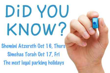 This image asks do you know the next legal parking holidays are...