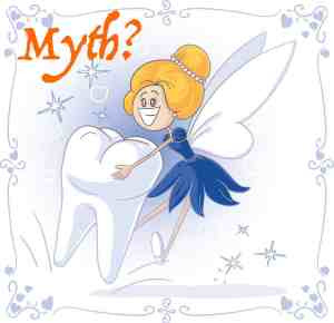 This image of a tooth fairy represents myths like the correct application of the 5-minute grace period