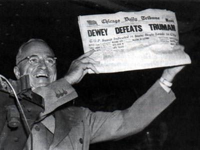 Bad predictions Truman lost election