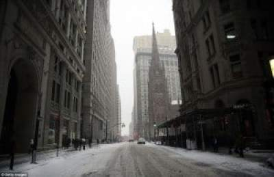 Blizzard of 2015 empty NYC streets