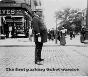 The first NYC parking ticket warrior
