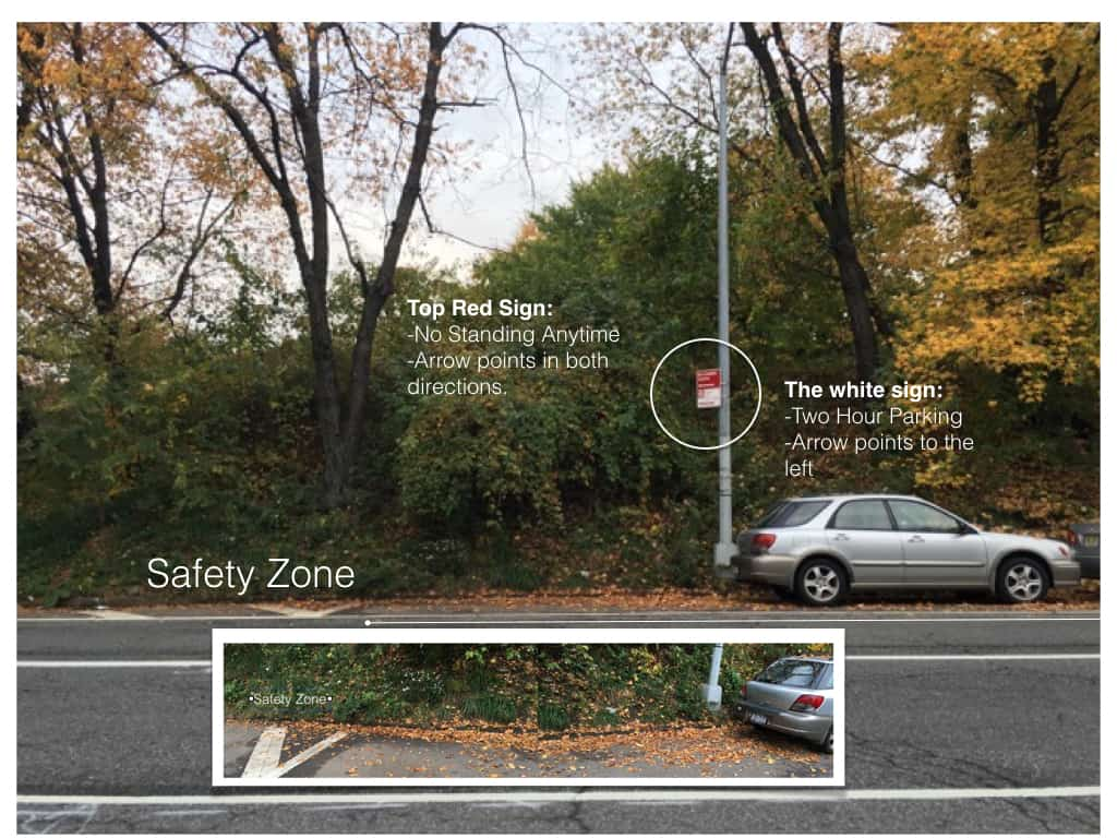 Parking sign conflict on same pole
