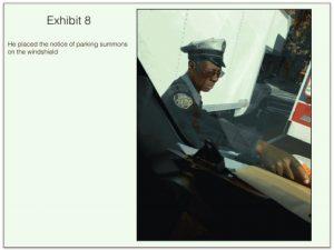 Lack of service-warrior placing ticket under wiper