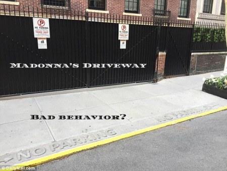 Madonna's NYC curb cut, sidewalk and driveway