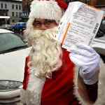 Santa gets a NYC parking ticket