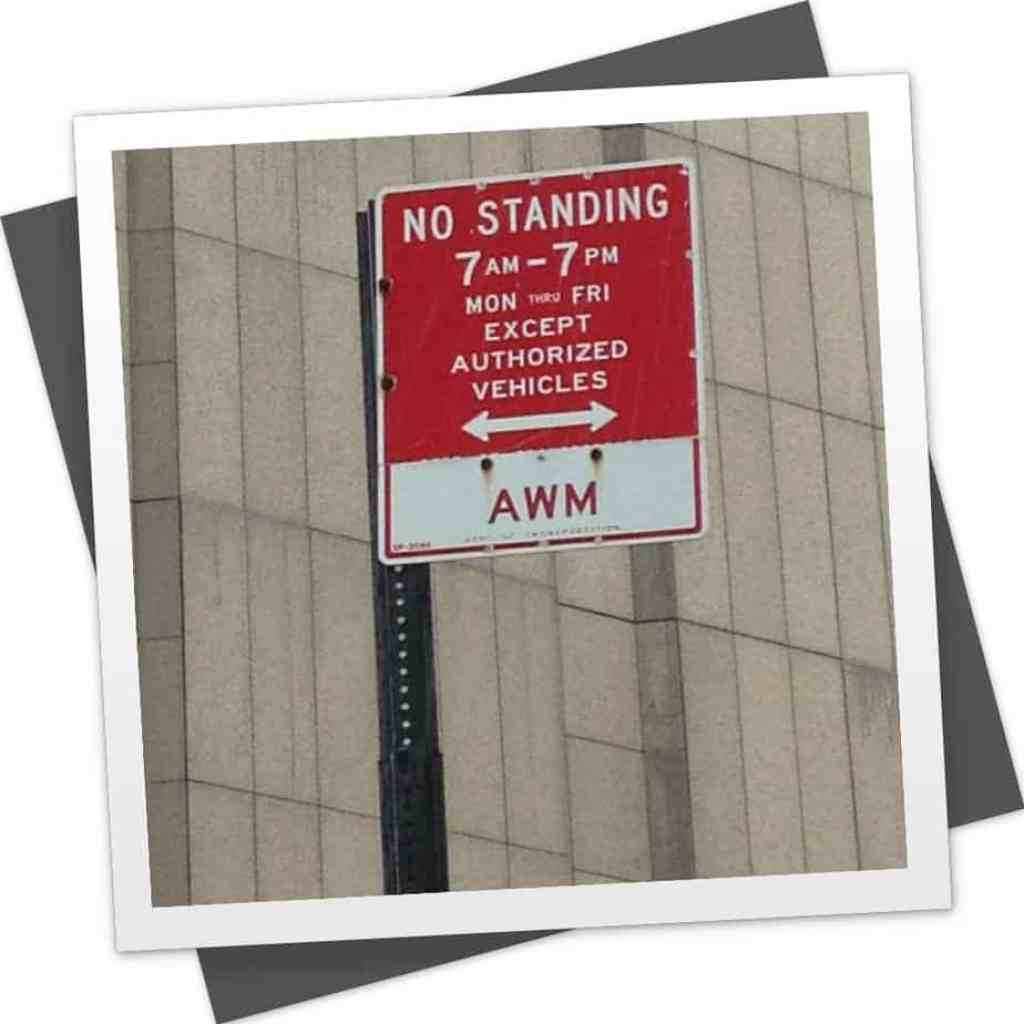 No Standing except authorized vehicles