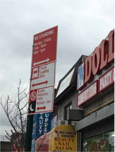 Another NYC parking sign ambush