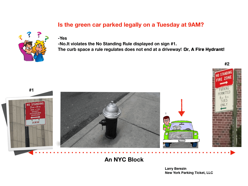 Fire Hydrant does not end a NYC parking zone