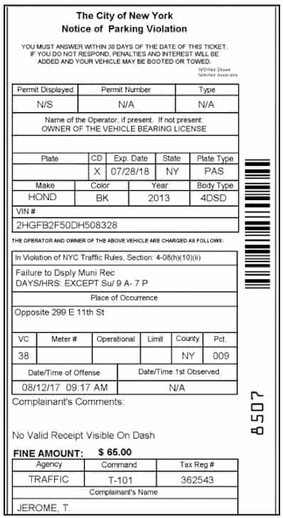 I Bet You Can't Beat These 3 NYC Parking Tickets
