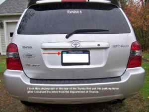 Bogus NYC parking ticket_PA resident_his car