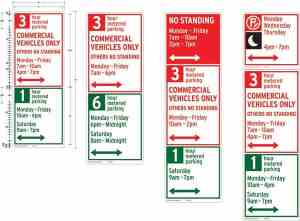 Re-designed NYC parking signs