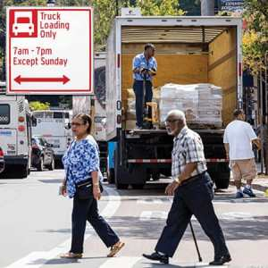 Truck Loading Only Sign