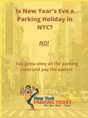 Is New Year's Eve a parking holiday in NYC?