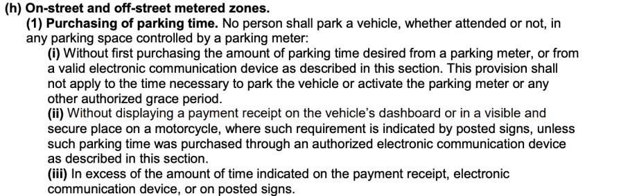 NYC Traffic Rules meter parking
