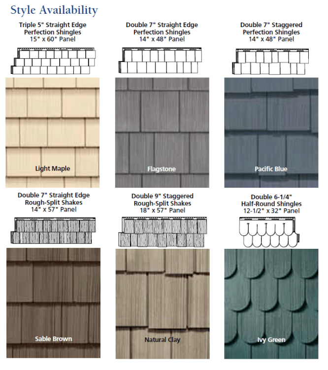 vinyl cedar siding options