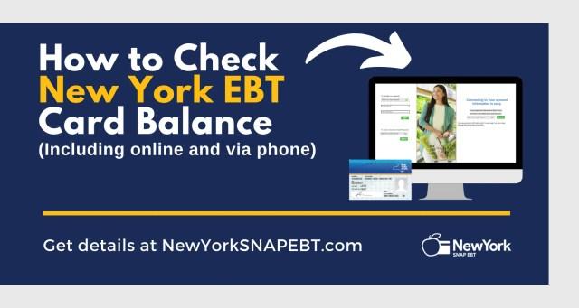 """""""New York EBT Card Balance"""""""